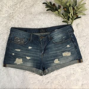 Lucky Brand Dis-Stressed Jean Shorts